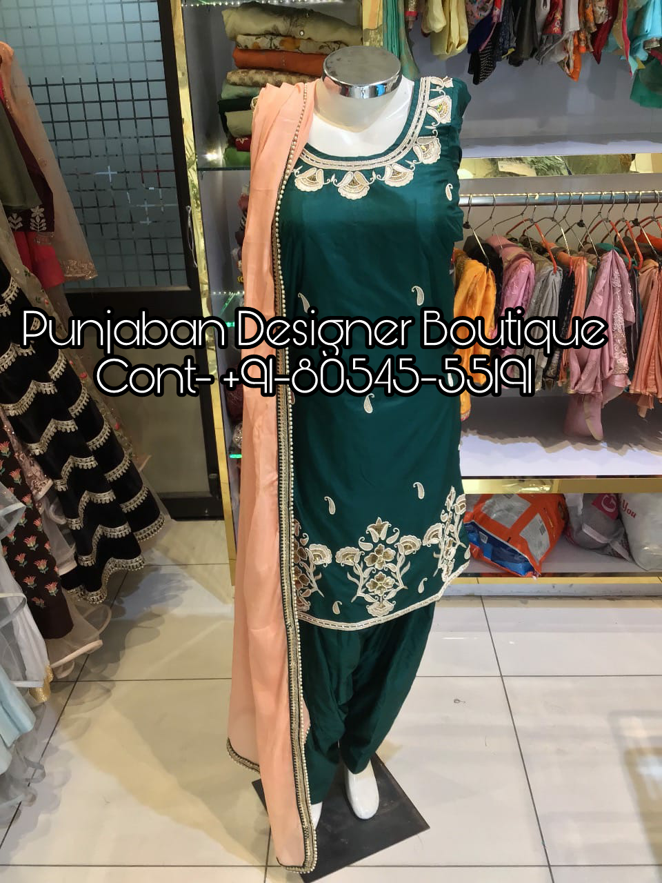 Designer Salwar Suits For Party Wear Punjaban Designer Boutique