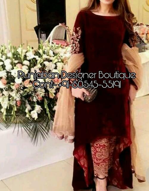 Designer Trouser Suit Ladies Punjaban Designer Boutique