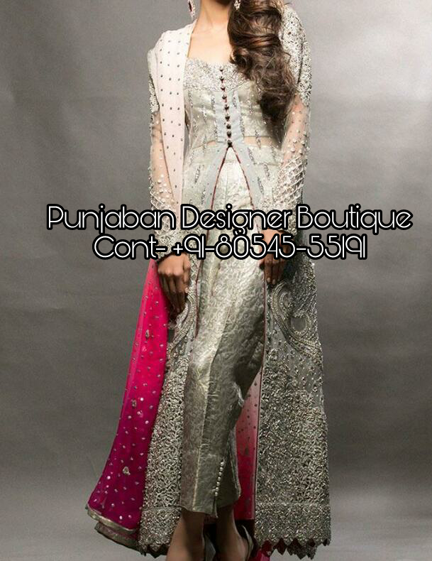 Designer Trouser Suits For Weddings Ladies Punjaban Designer Boutique