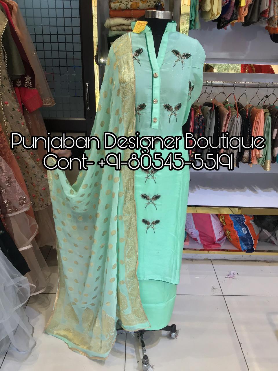 Punjabi Suit Embroidery Boutique Punjaban Designer Boutique