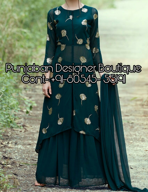 Punjaban Designer Boutique, Images Of Palazzo Suits, designer punjabi suits boutique, plazo suit styles, plazo suit pic, plazo suit design latest images, plazo suit styles 2018, plazo dress images with price, Punjaban Designer Boutique