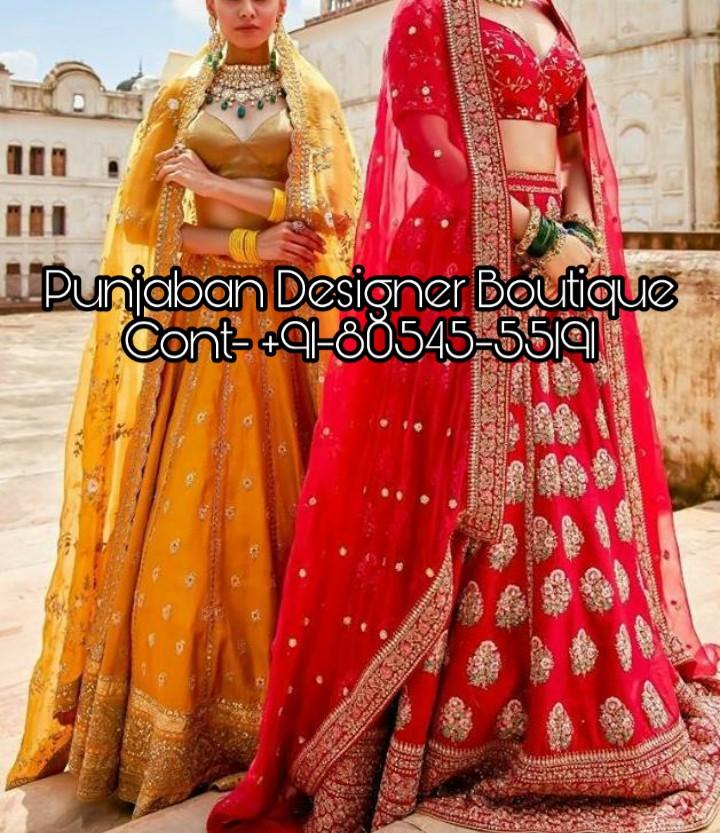 Bridal Reception Lehenga Online Punjaban Designer Boutique