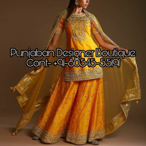 Buy Designer Sharara Suits with long kameez Online at best prices. We have a wide collection of Sharara Dresses available for weddings & functions.