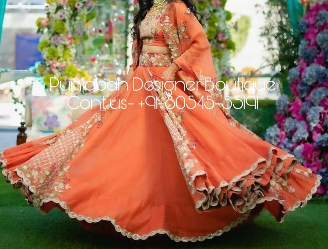 Crop Top With Lehenga Design Punjaban Designer Boutique