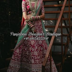 Red Bridal Lehenga Online USA